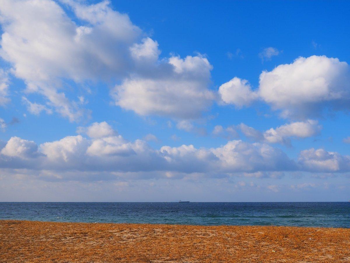 晴天、二月の瀬戸内海。光市・虹ヶ浜。 https://t.co/rBbi4JQ481