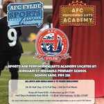 HALF TERM   Starting tomorrow we have the popular AFC Fylde half term camps!   If you are not yet signed up not to worry, just arrive on the day and we can sign you up on the spot!  Open to all boys and girls aged 5-12 years old!
