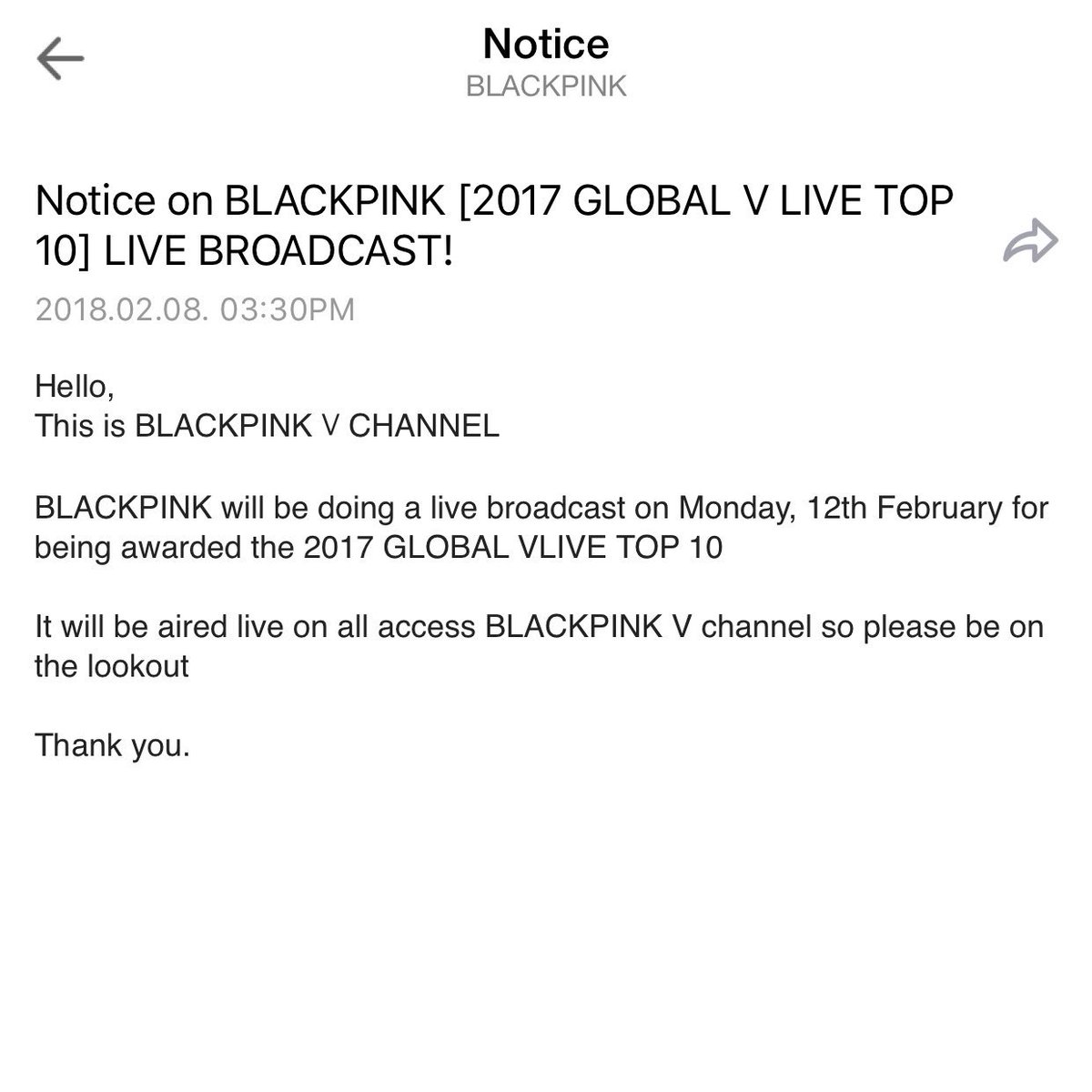 888 on twitter news blackpink will be having a 888 on twitter news blackpink will be having a live broadcast tomorrow at their v channel for 2017 global v live top 10 publicscrutiny Choice Image