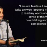 """I am not fearless. I am terrified but I write anyway."" - Roxanne Gay #writerslife #fear"