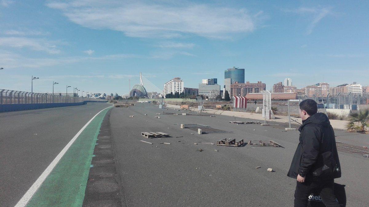 Circuito Urbano Valencia : Estado actual del circuito urbano de valencia fotos vídeo