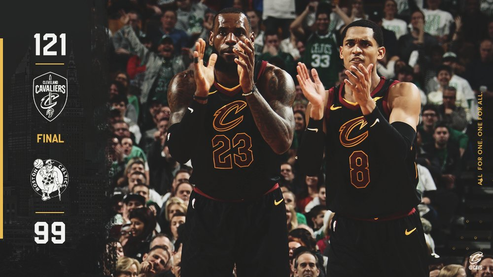 Well, that was fun.  #CAVS WIN!  #AllForOne