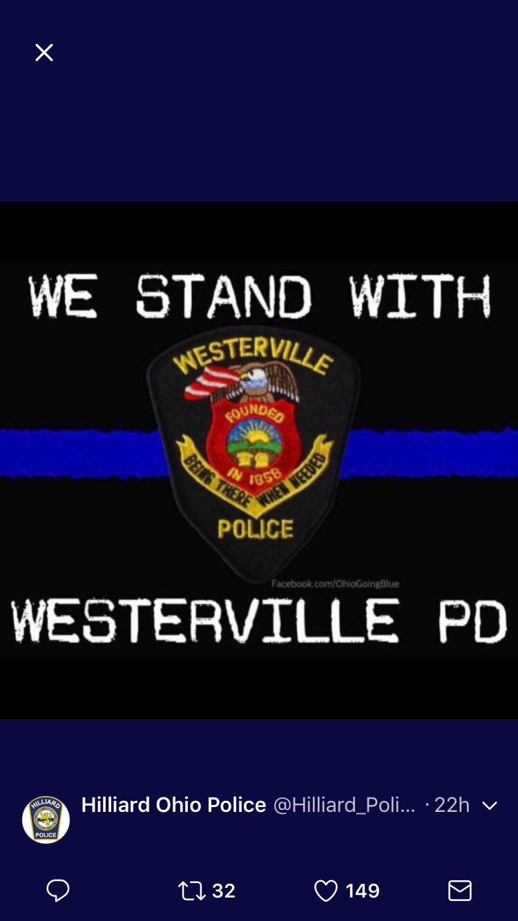RT @HilliardSchools: The Hilliard School District is asking our students  and staff to wear blue on Monday, Feb 12 in memory of Westerville Police  Officers ...