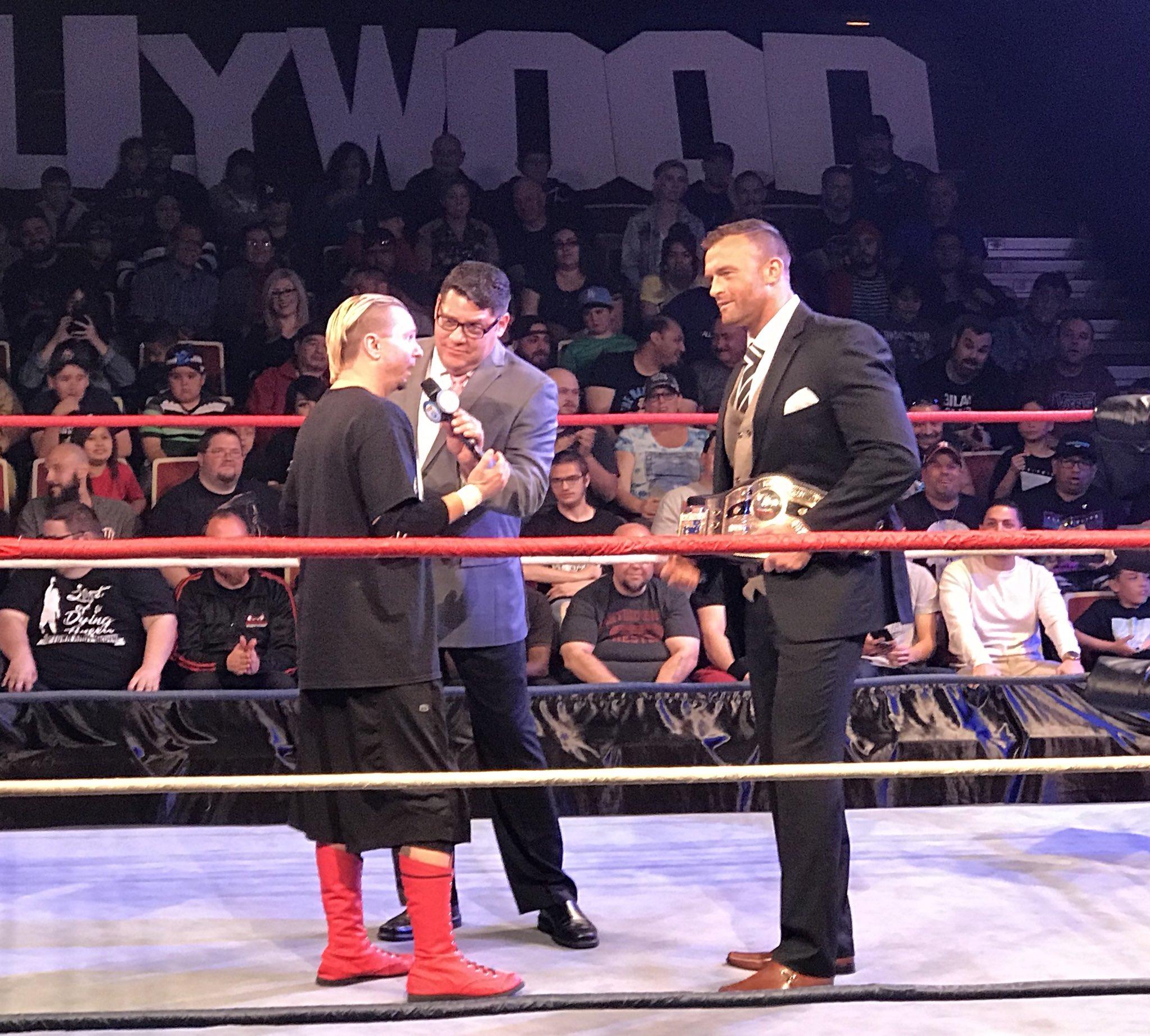 Джеймс Эллсворт в погоне за поясом NWA