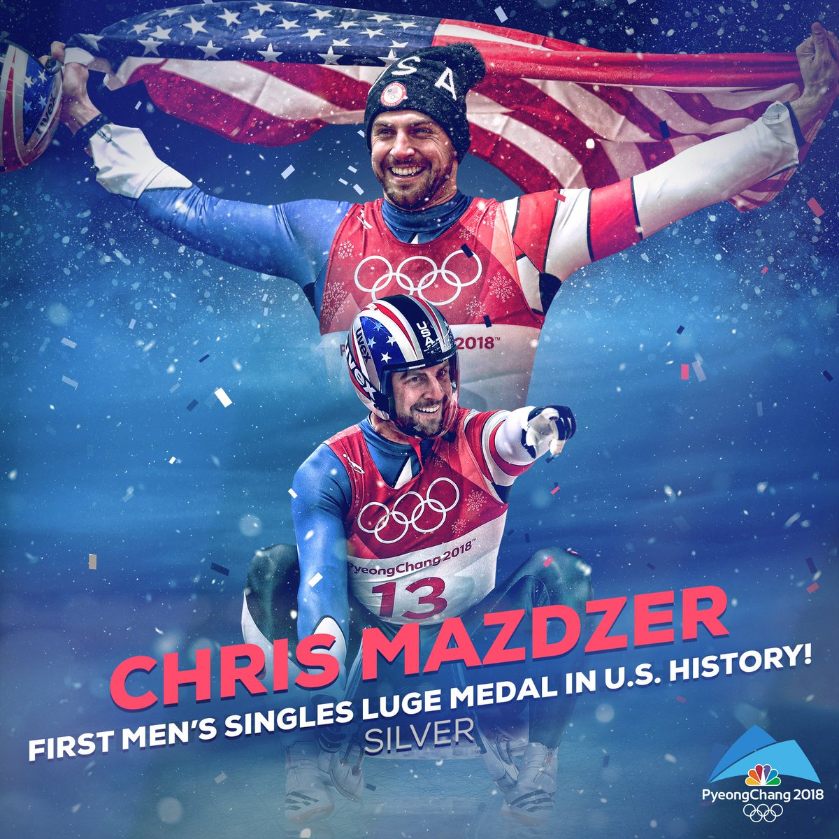 By 3D printing in winter Olympics these men's won the singles.