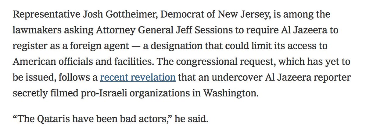 Remember when RT was forced to register as a foreign agent and some people warned that this tactic would inevitably be used again as a political weapon mobile.nytimes.com/2018/02/09/us/…