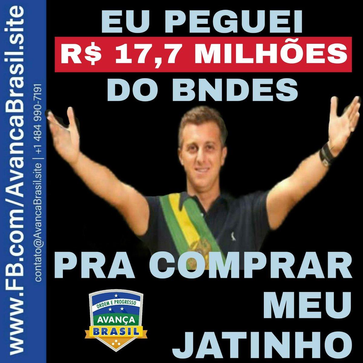Meu Jatinho, Meu BNDES!  Luciano Huck emprestou R$ 17,7 milhões do BNDES para comprar seu Jatinho.