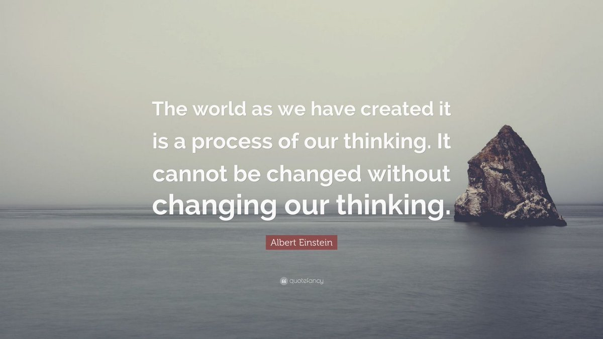 """The world as we have created it is a process of our thinking. It cannot be changed without changing our thinking"" #sotrue #ecosynomics #abundance #ChangeTheGame"