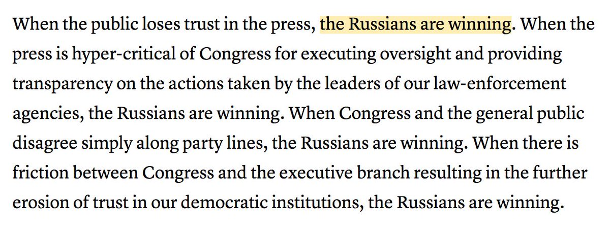 Are you a rudderless GOP politician who wants to ingratiate himself with the national press corps? Simply drone The Russians Are Winning over and over again and youll easily earn that Strange New Respect you crave
