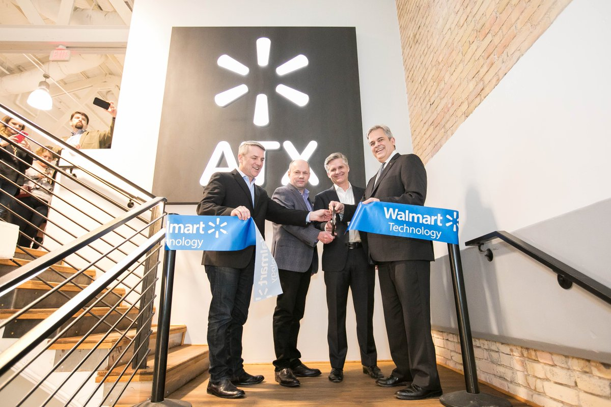 Resultado de imagen de Clay Johnson ‏ @ClayMJohnson 26 feb. Grand Opening for the new @WalmartTech site in Austin. Focused on AI, ML, Data and IoT. Thanks to @MayorAdler for stopping by for the ribbon cutting. @jason_norris @ChrisEnslin4 @Mbbiggs @WalmartNewsroom @MyABJ