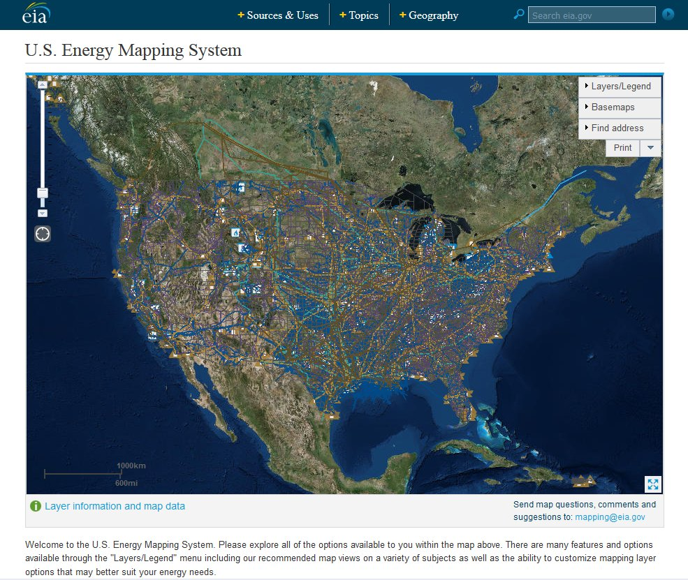 EIA on Twitter EIA updated data layers