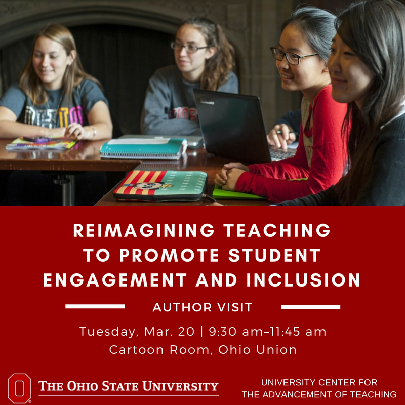"Join us TODAY at 9:30 for a panel discussion with the authors of ""Teaching Interculturally"" in the Cartoon Room @ohiounion"