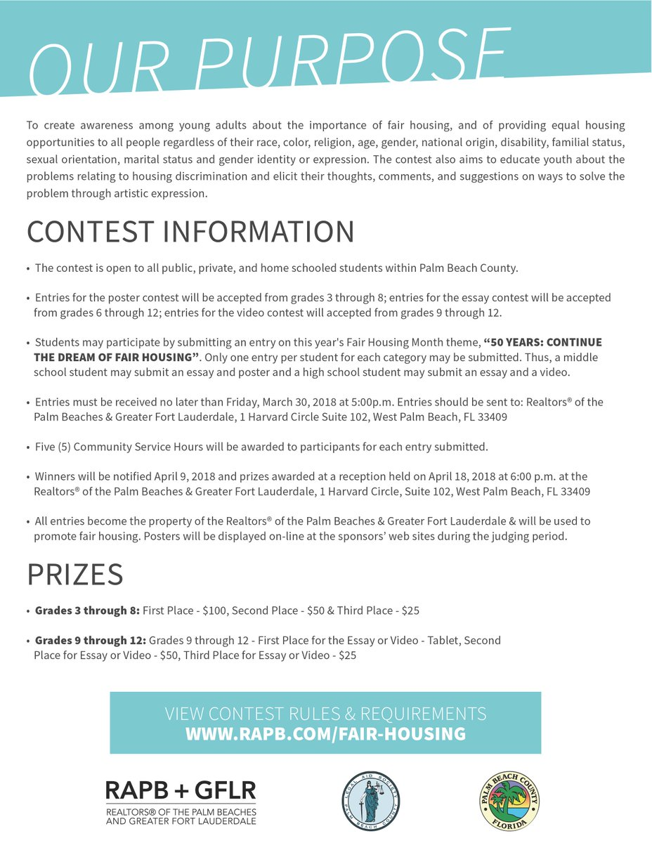 Fair housing essay contest