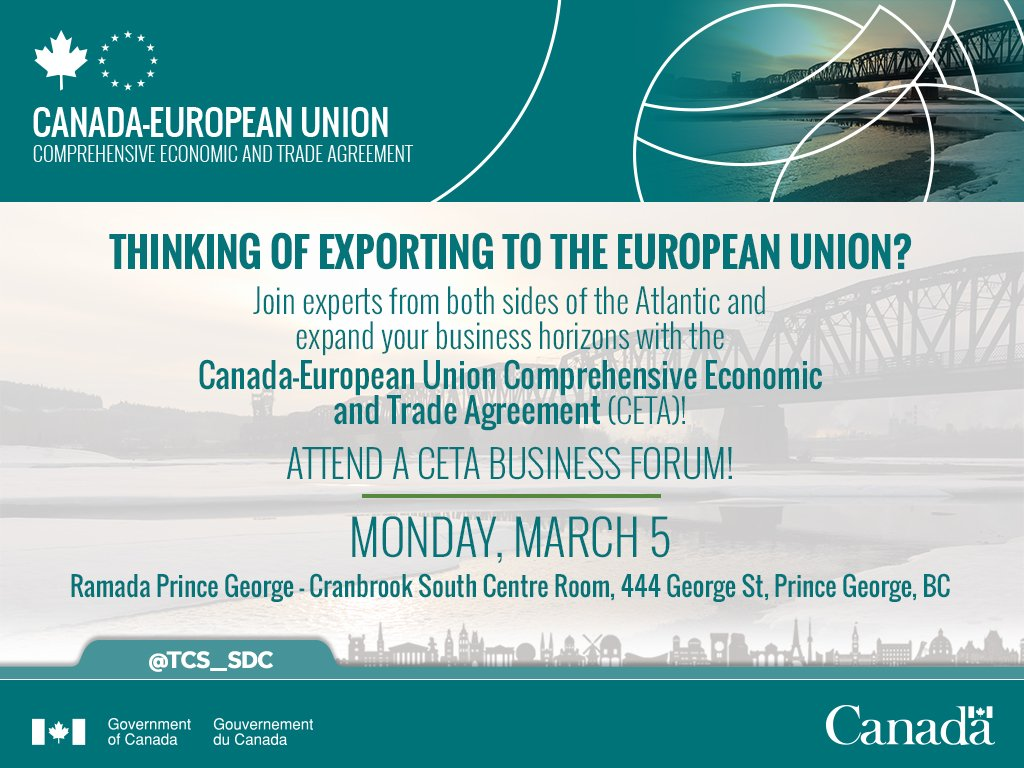 Trade Commissioner On Twitter The Ceta Roadshow Is Heading West