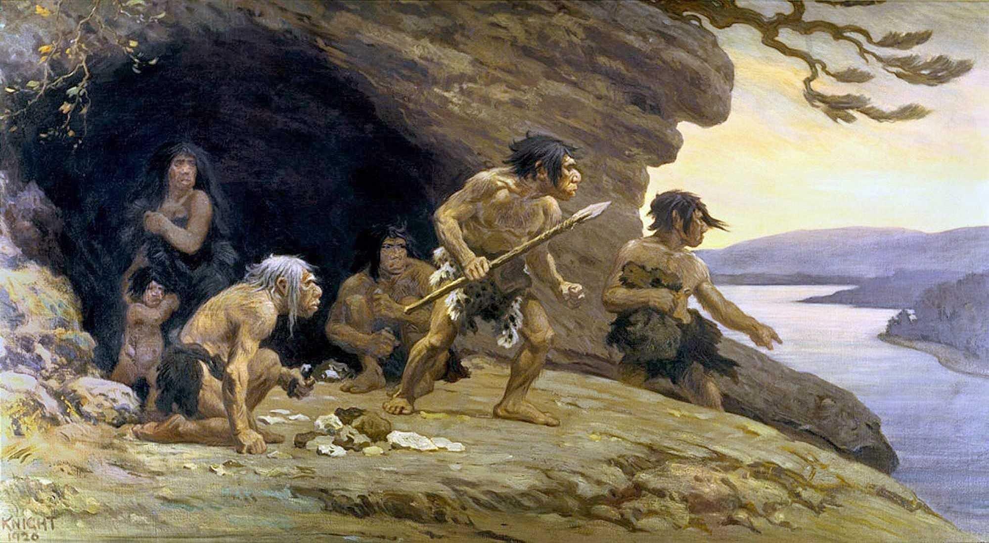 Стихами веселые, пещерные люди в картинках