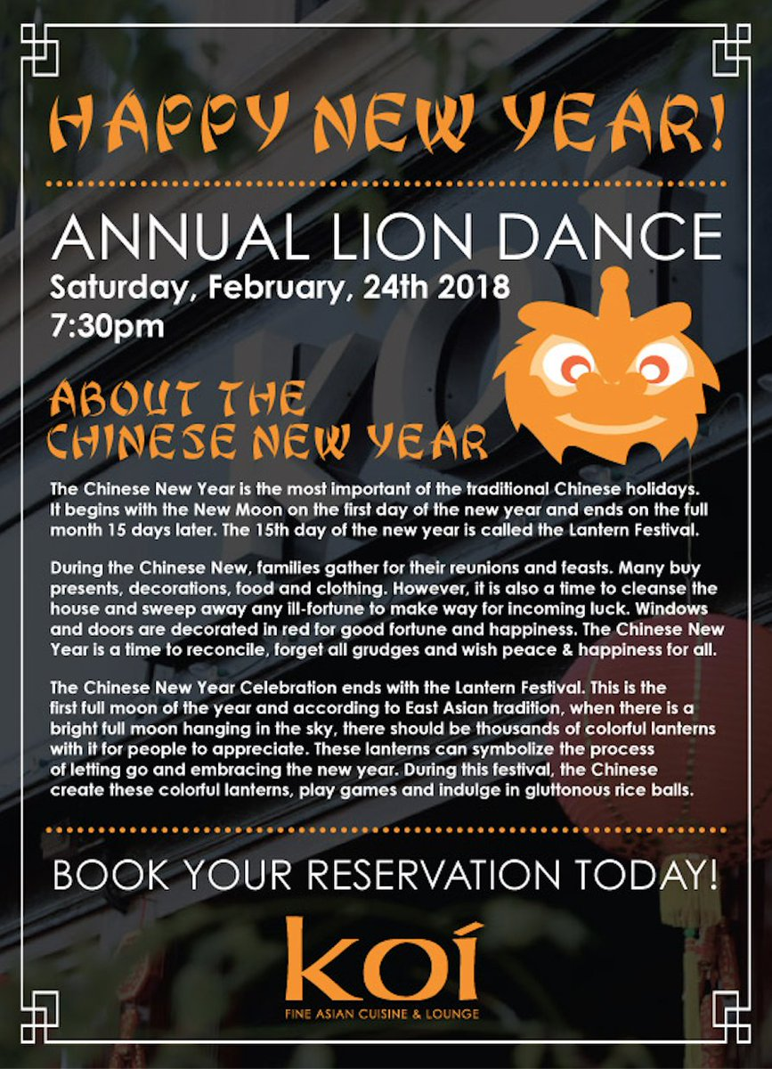Our Annual Lion Dance is tonight!  We ho...