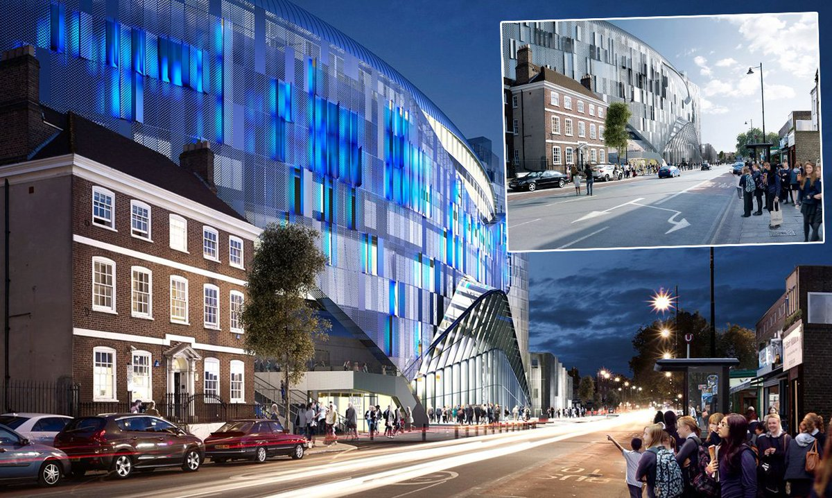 Tottenham reveal incredible images of how LED lights will see new £850m 62,000-seater stadium glow like Bayern Munich's Allianz Arena https://t.co/iRnmObovBI