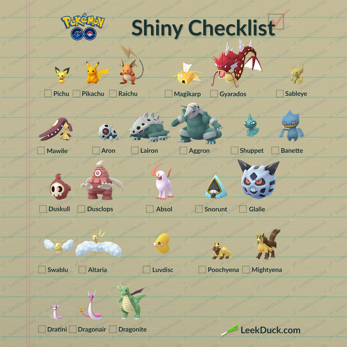Pokemon go shiny list | Pokemon GO shiny list: All the ...