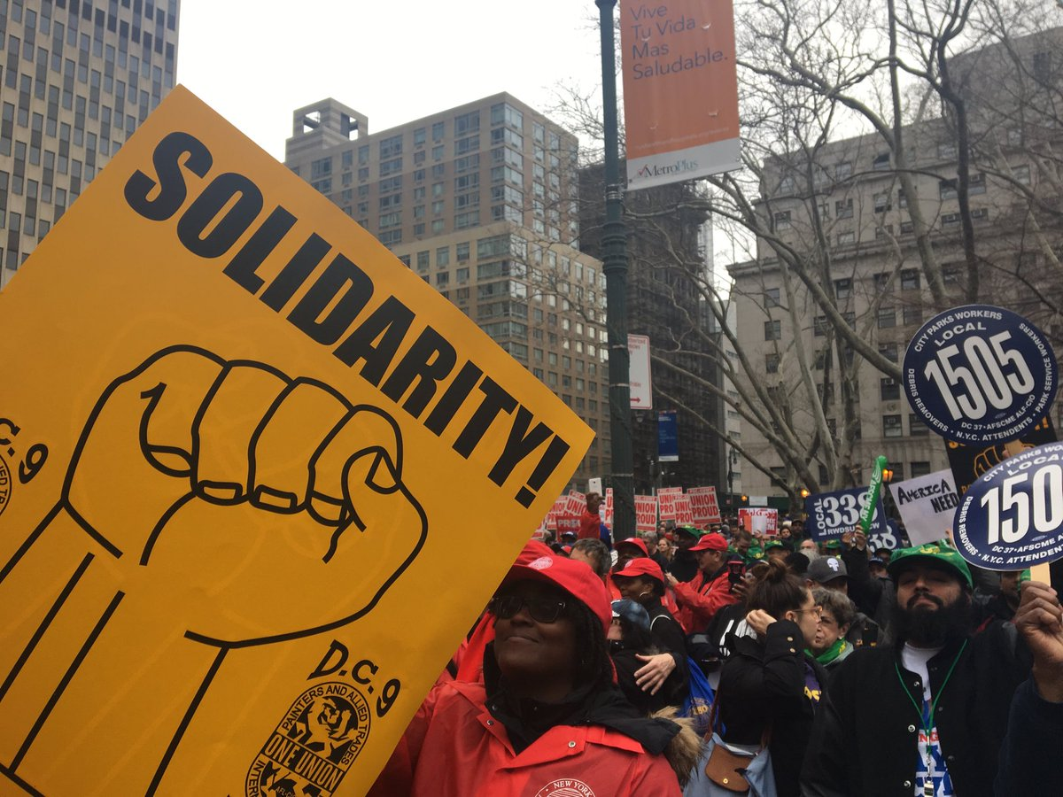 NYC is a union town! #1u #ItsAboutFreedo...