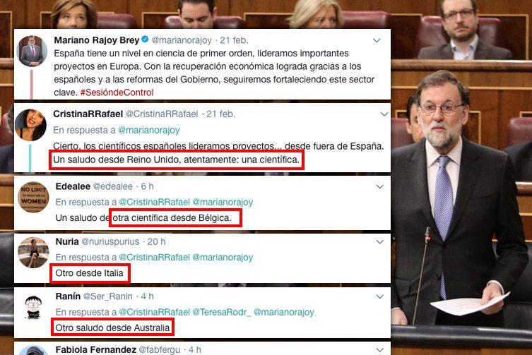 El zasca global de los científicos españoles exiliados a Rajoy https://t.co/2VZdmJBMa2