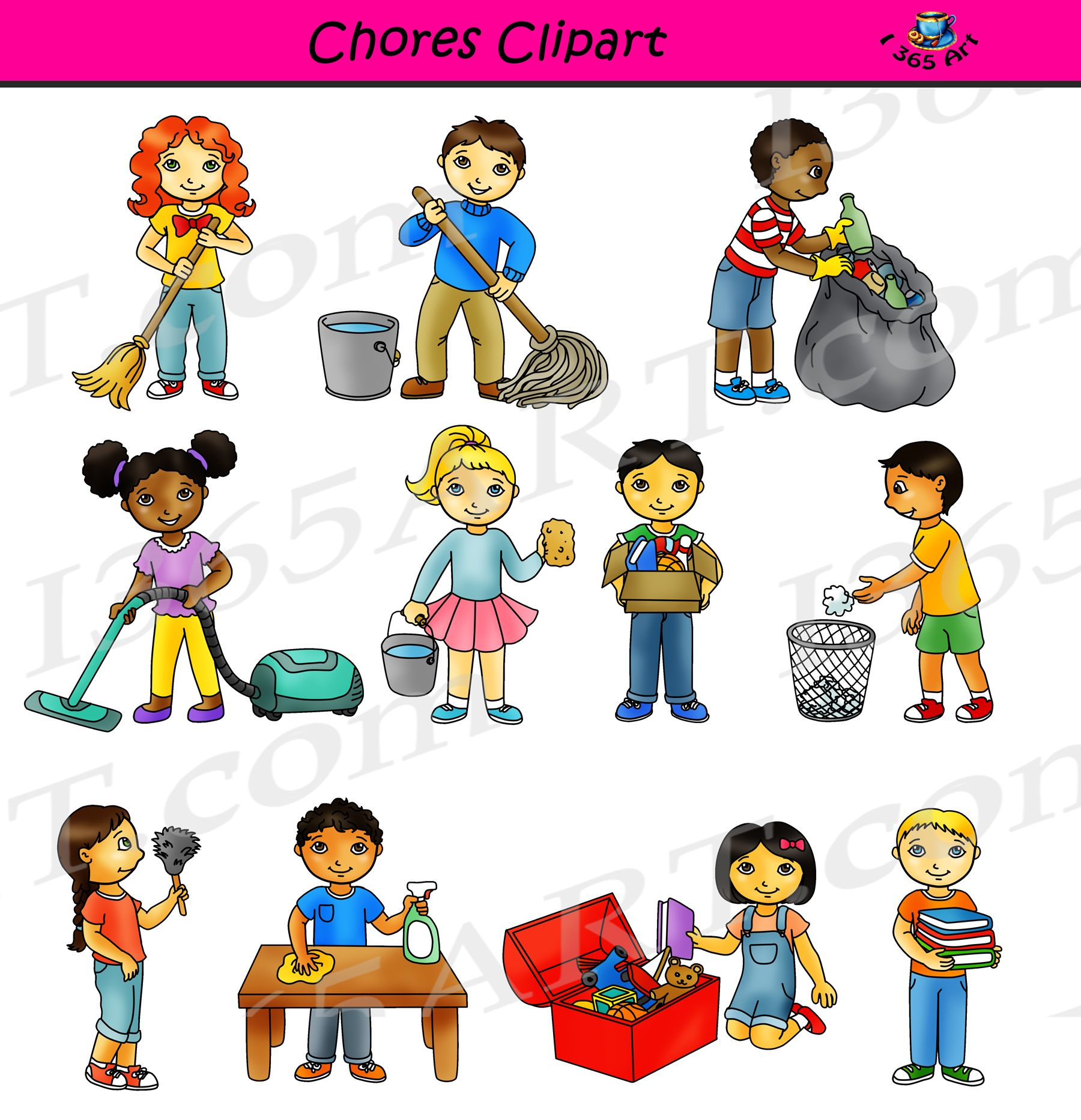 """clipart 4 school on twitter: """"#chores #clipart – #classroom"""