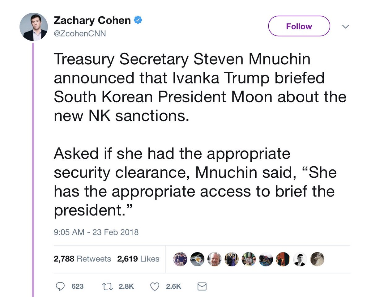 This is actually completely and absolutely bonkers, but we're frogs sizzling in a pot that has boiled dry by now. Imagine if President Hillary had dispatched Chelsea to do this.