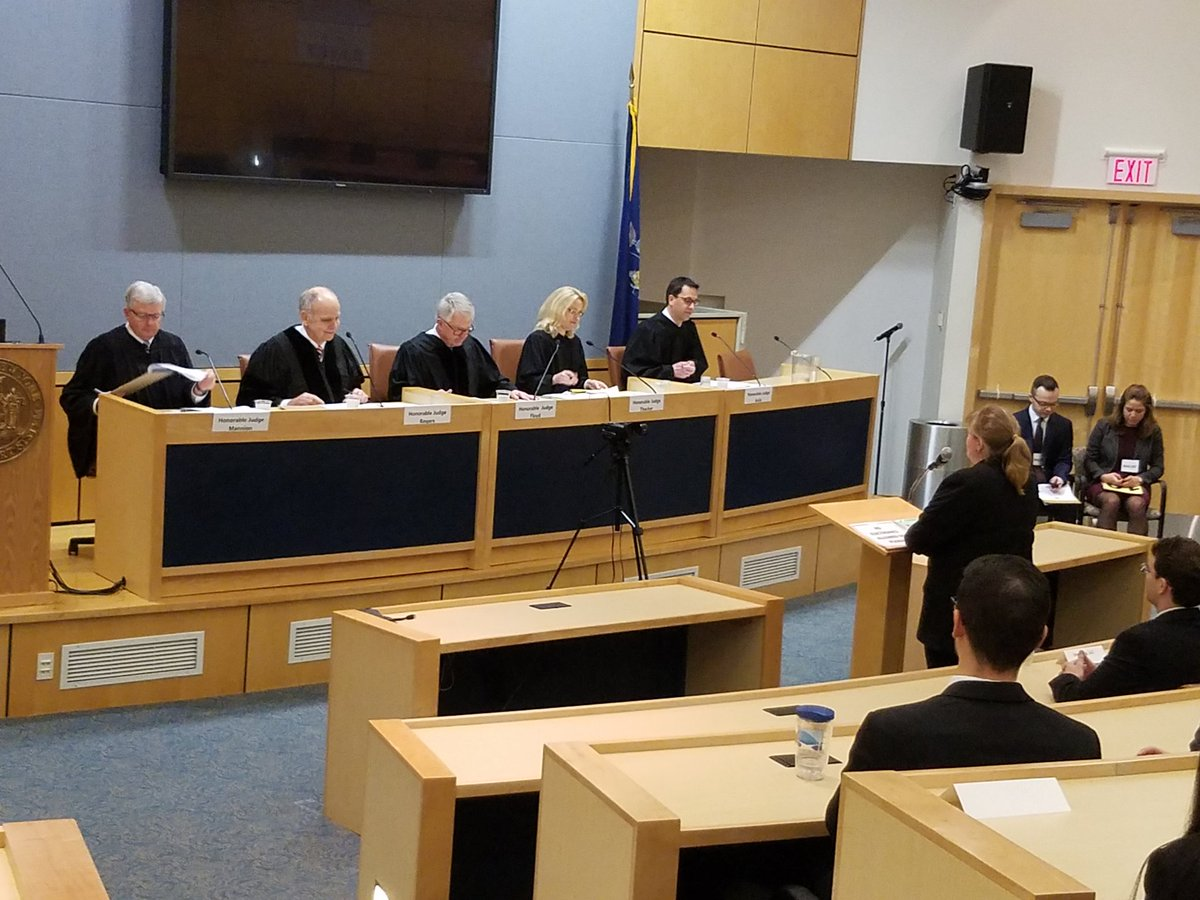 Judges at the Moot Court Competition