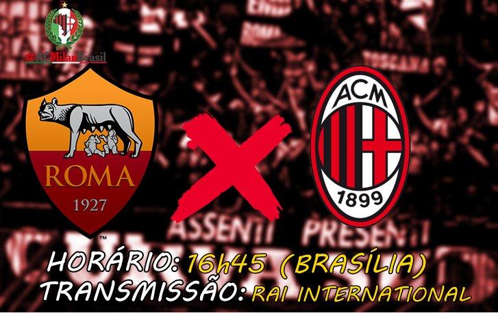 Amanhã tem a primeira das duas decisões que o Milan vai ter na capital italiana até a quarta-feira. É confronto direto pelas competições europeias! 🔴⚫