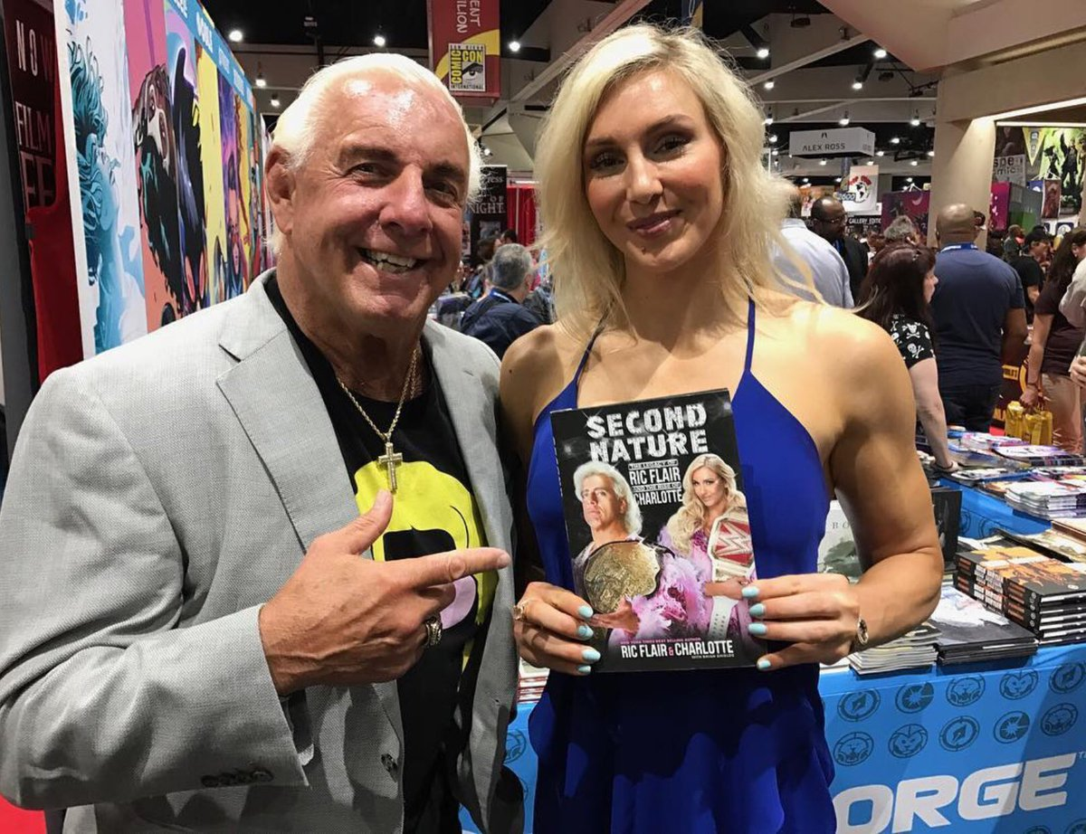Go behind the scenes of the Flair dual memoir #SecondNature. Learn the process of working w/ Ric & Charlotte Flair. Click on the Feb 23 interview here: is.gd/wwegp. Shout to  @WWEGP and @jamesdelow for the fantastic discussion. #WWE #NatureBoy #TheQueen