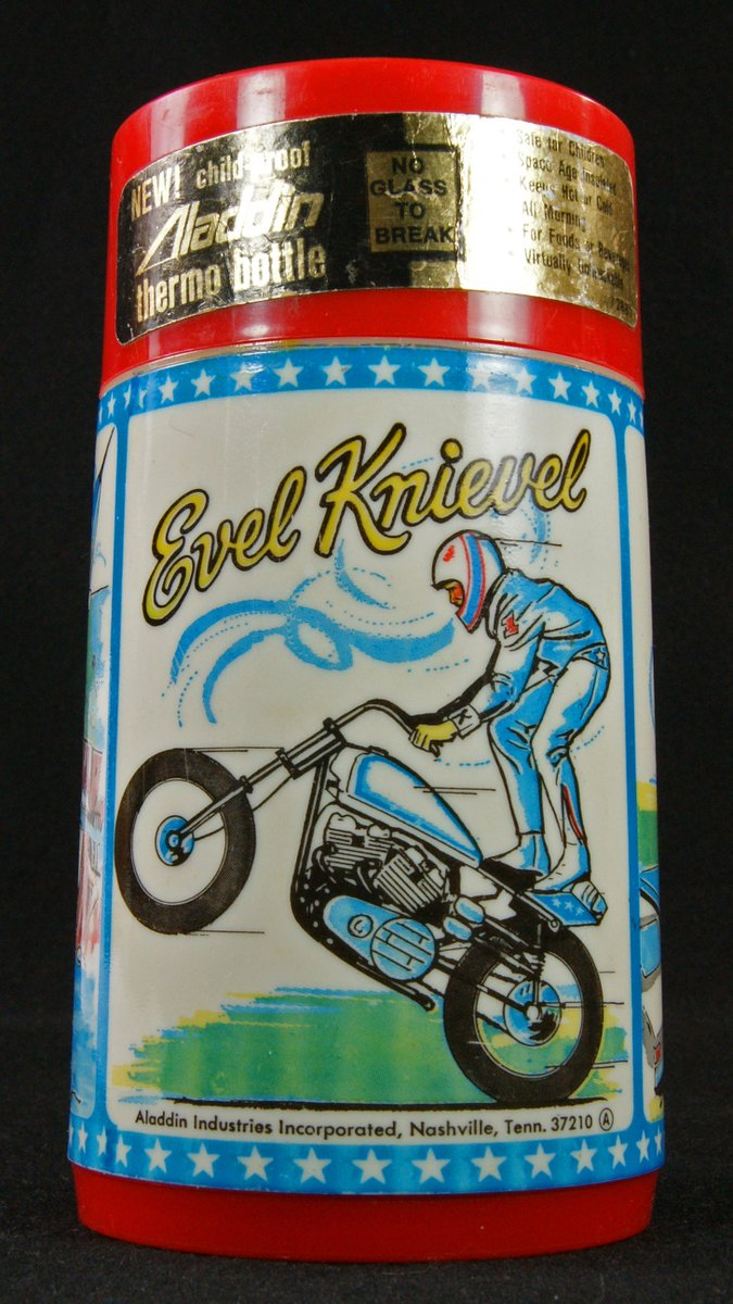 Tin Can Alley On Twitter Vintage Evelknievel 1974 Thermos Bottle Aladdin Motorcycle Stunts With Sticker Https T Co Oj3evovvkf Daredevil Ebay Auctions Https T Co Htoxyfgd9o New Collectibles Mantiques Https T Co Ocgtvzlffo Pinterest