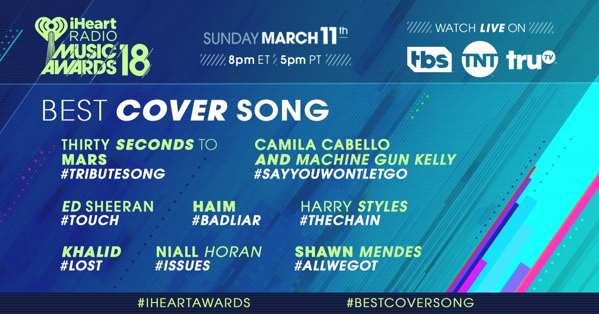 How about a #BestCoverSong voting spree? Let's go! #iHeartAwards 🎤