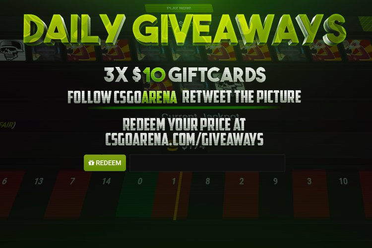 Daily Giveaway RT + follow @CSGOArenaGG...