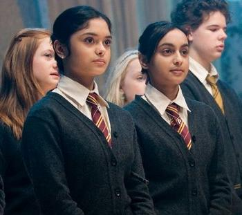 This week is dedicated to celebrating the power of sisterhood.  Were kicking off #SisterhoodsofPotterWeek with a sisterly bond that overpowered House differences. We love that Padma and Parvati were able to stay close, even after they were separated by the Sorting Hat