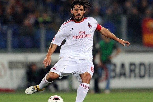 TABU HISTÓRICO: Gattuso ainda jogava quando o Milan venceu a Roma pela última vez no Olímpico. Agora treinador, ele tentará quebrar uma escrita que já dura 7 anos.