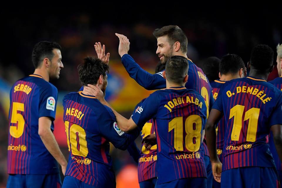 Il @FCBarcelona travolge 6-1 il @GironaFC 🔥🔥🔥 ⚽⚽⚽ Luis Suarez  ⚽⚽ Leo Messi  ⚽ Philippe Coutinho