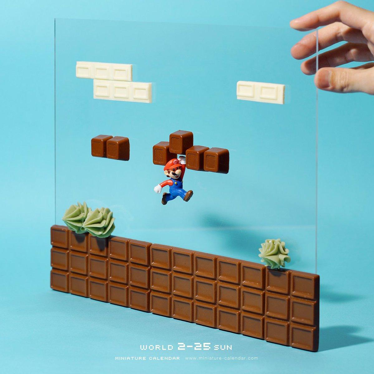 甘くみてるとゲームオーバー   #スーパーマリオ #チョコレート