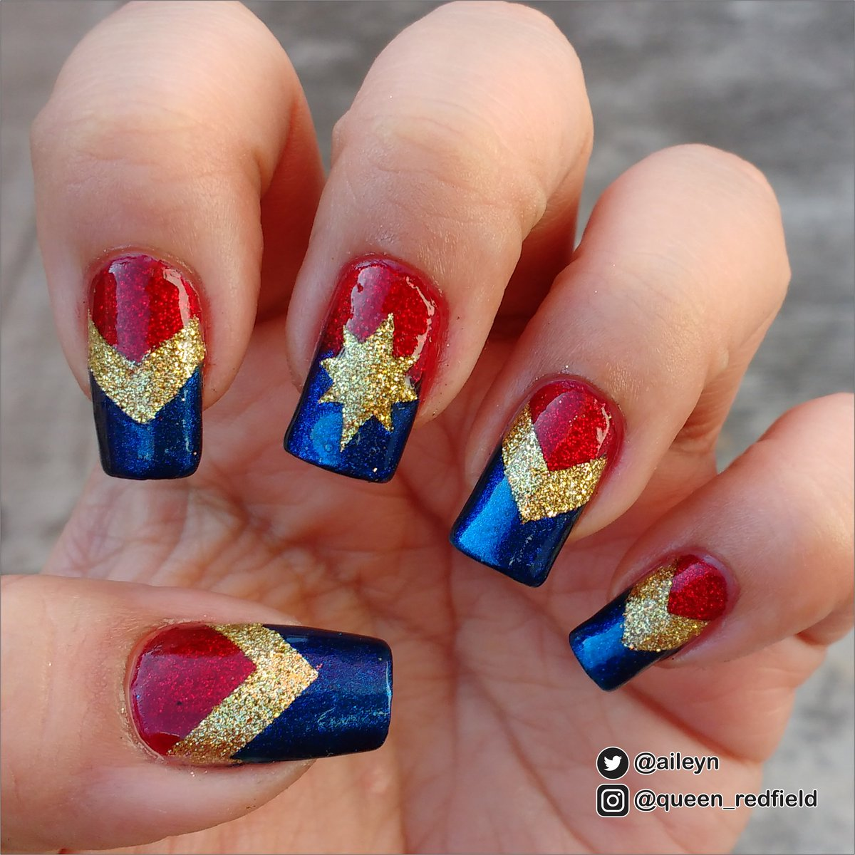 Aileyn On Twitter Time For Some Captainmarvel Nails Using