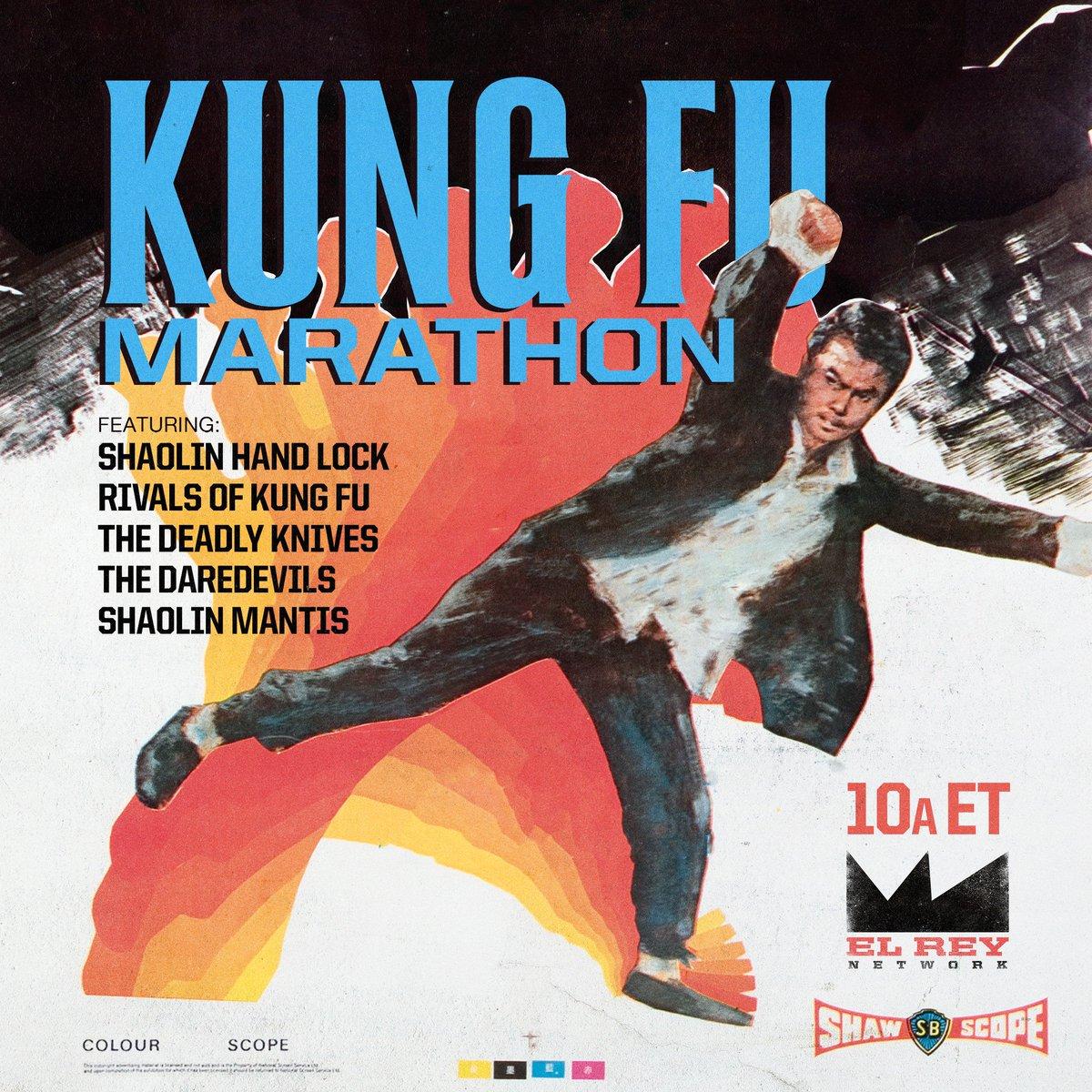 SUNDAY! The Kung Fu Marathon returns with the Shaolin Hand Lock leading the way! 10a ET on @Elreynetwork! #kungfu #shawbrothers #shaolin #martialarts #kungfumoviesm#movieso#ridewithelreyvies