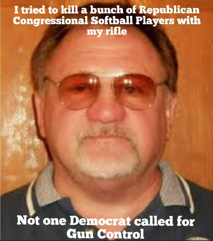 Not ONE #Democrats or MSM called for #GunControl when #JamesHodgkinson shot up #GOP softball practice, critically wounding Rep Scalise! Hypocrite SOBs. #StandWithNRA  #NRA  #2ndAmendment  #ComeAndTakeIt  #MyAR15  #GunsSaveLives
