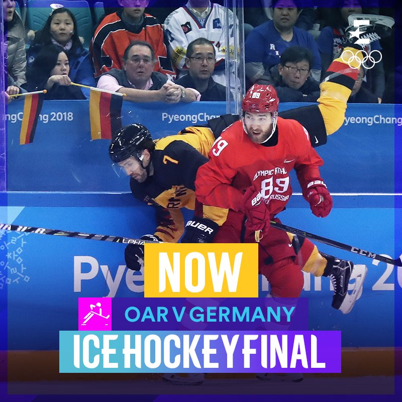 It is one each in the Ice Hockey final between OAR and Germany!  Follow LIVE on Eurosport 2 and Eurosport Player! https://t.co/0jaauuSxse