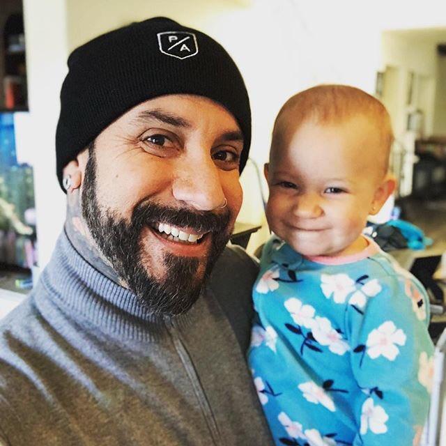 Photo of AJ McLean & his Daughter Lyric Dean McLean