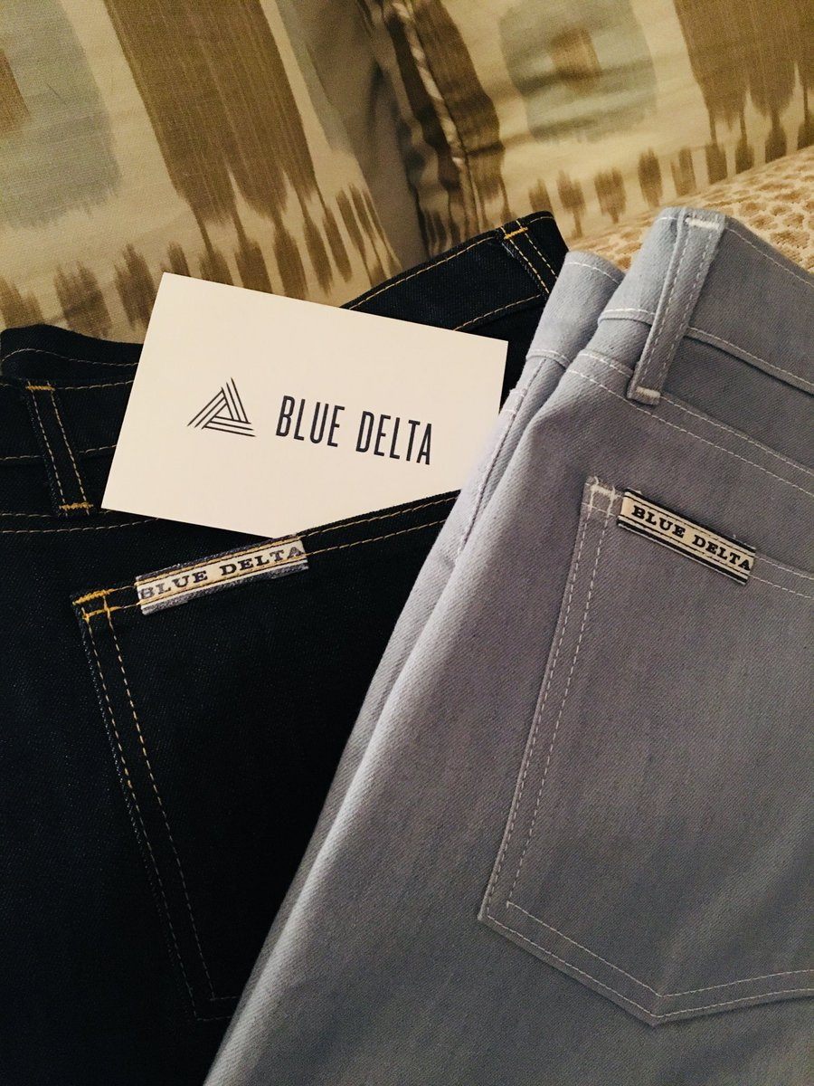 Look what The Bilastrator just received...brand new @bluedeltajeans custom. Best on the planet. Awesome.