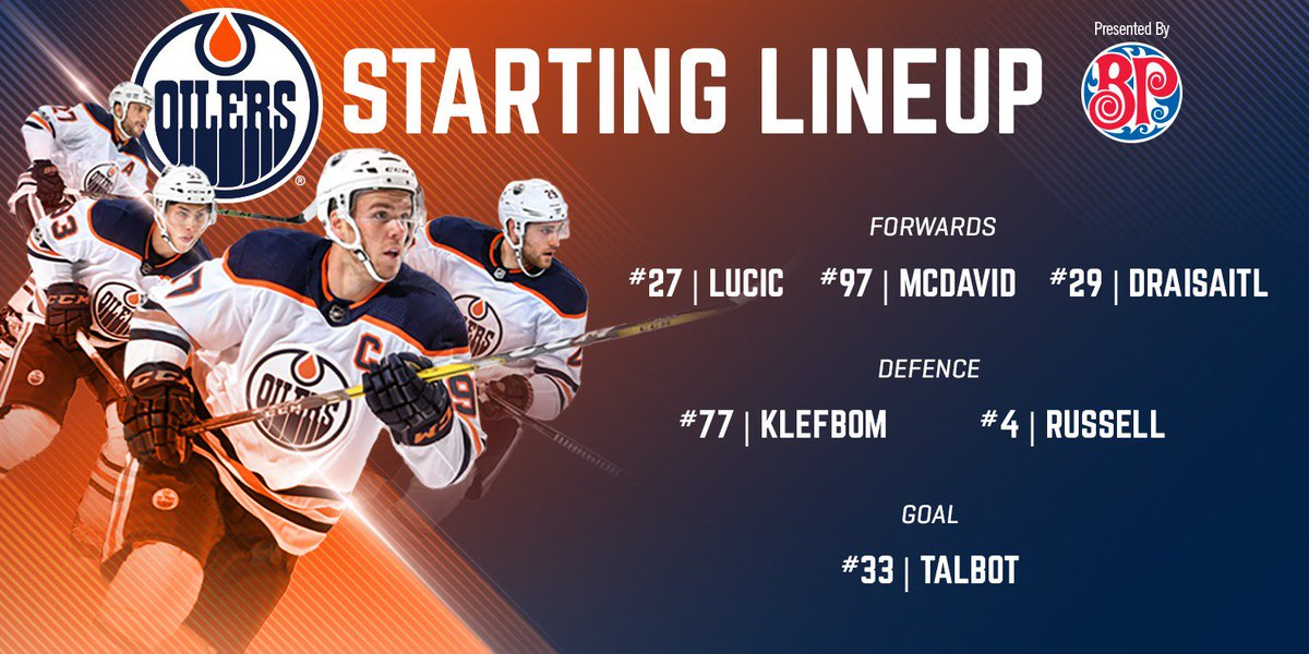 Connor's crew to lead us off. #LetsGoOilers