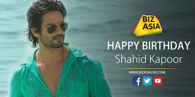 wishes Shahid Kapoor a very happy birthday.