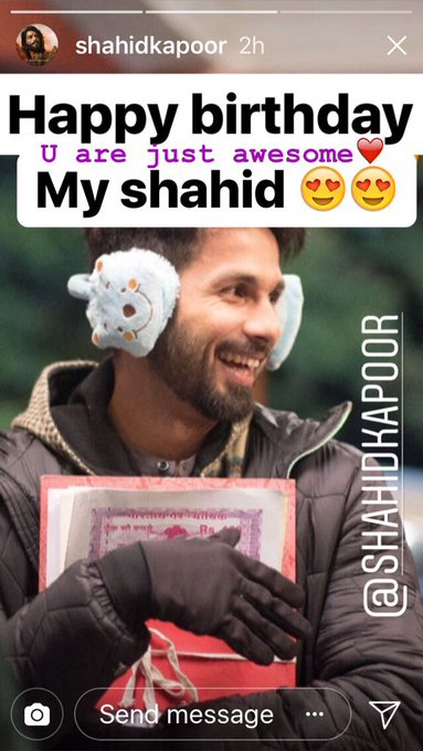 Happy happy birthday shahid kapoor