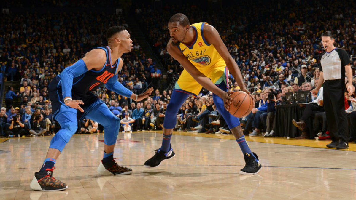 Second half run leads Warriors to blowout victory over Thunder. #NBA #Dubnation #ThunderUp  https://t.co/Y8O2wETu33