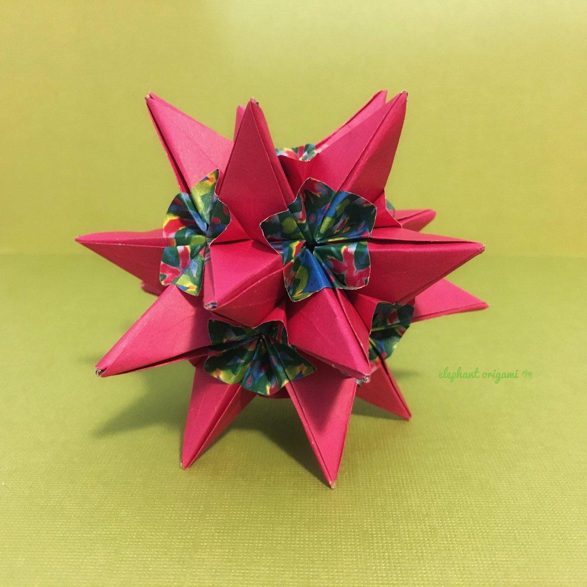 Origami star flower gallery flower decoration ideas elephant origami elephant0rigami twitter a constellation of flower stars flower star and flower star variation designed mightylinksfo Images