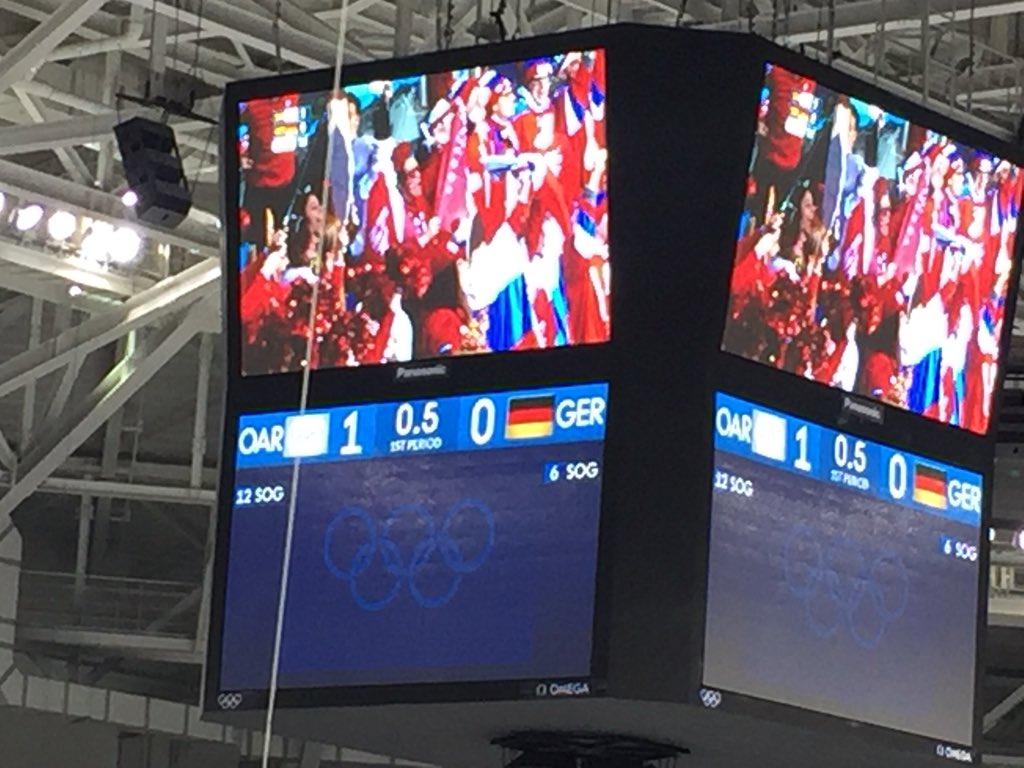 0,5 Sekunden vor Ende des Drittels - ohne Worte #OARGER @sportschau