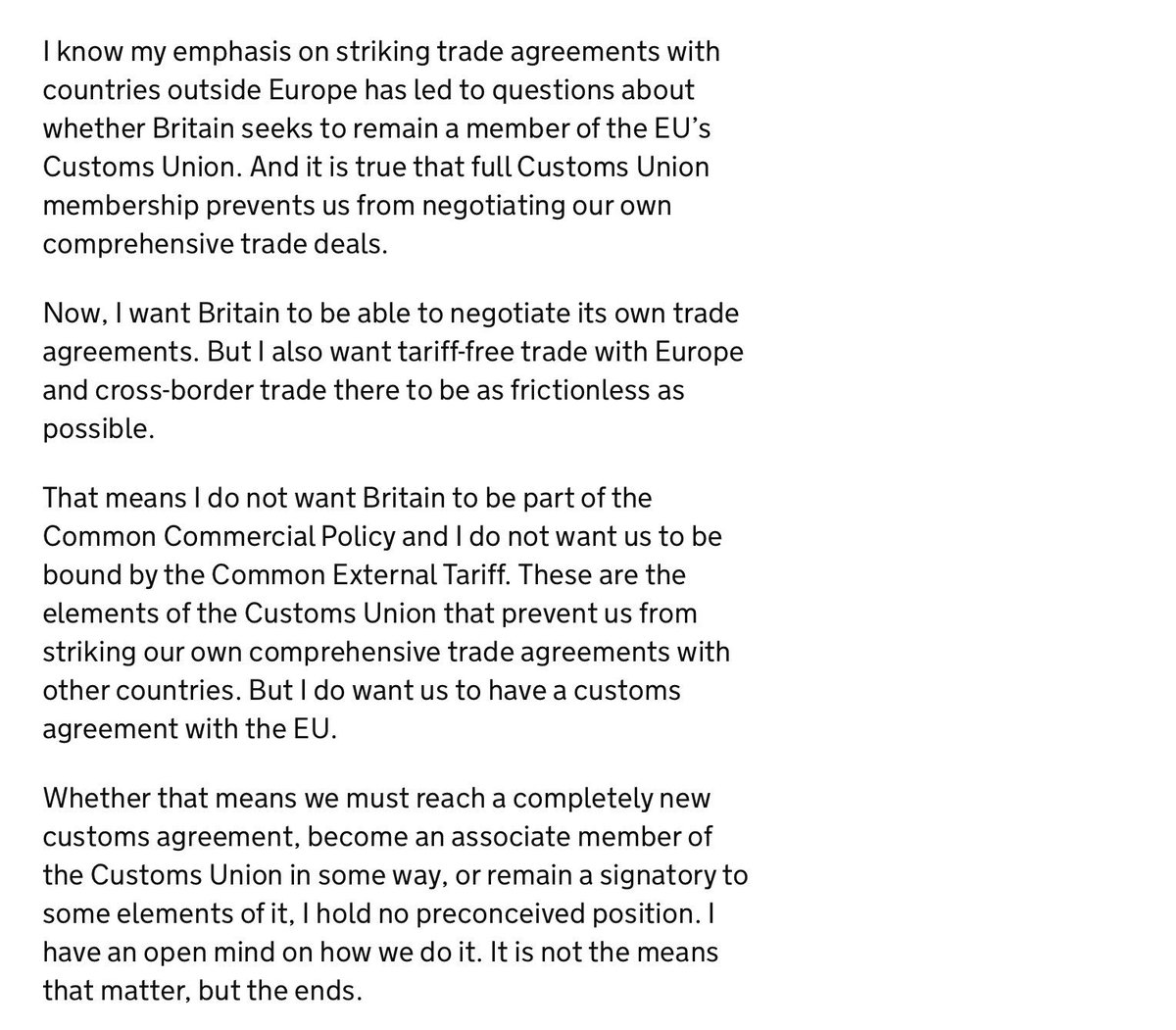 Nicky Morgan Mp On Twitter Amendment On A Customs Union Entirely