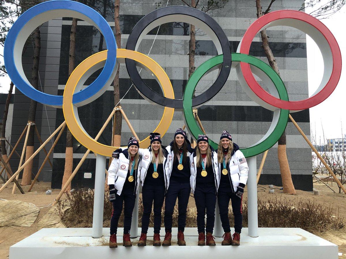 ✌🏼🇺🇸❤️ #ClosingCeremony #TeamUsA #Olympi...